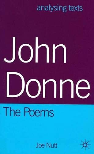 9780333747827: John Donne: The Poems (Analysing Texts)