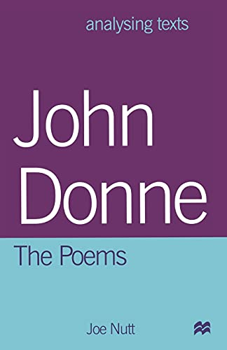 9780333747834: John Donne: The Poems (Analysing Texts)
