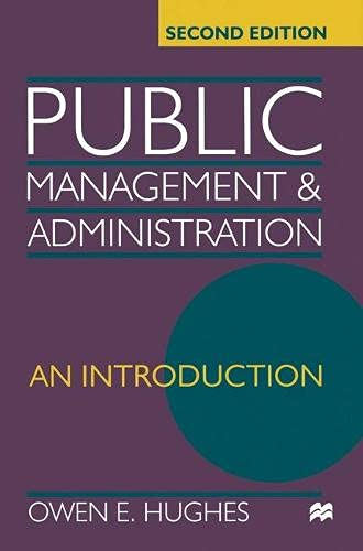 9780333748480: Public Management and Administration: An introduction