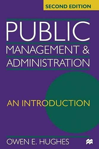 9780333748497: Public Management and Administration: An Introduction