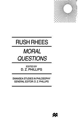 9780333748510: Moral Questions: by Rush Rhees (Swansea Studies in Philosophy)