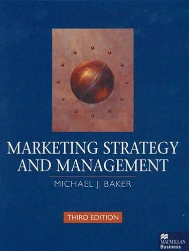 9780333748565: Marketing Strategy and Management
