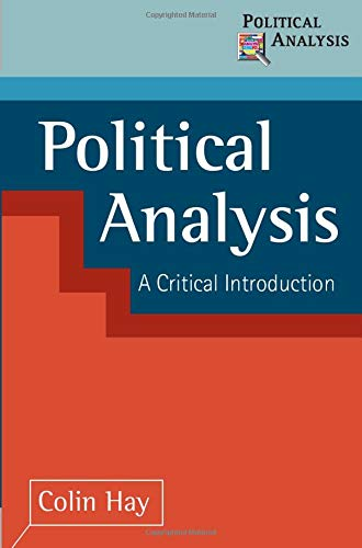 9780333750032: Political Analysis: A Critical Introduction