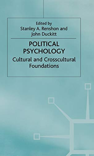 9780333751039: Political Psychology: Cultural and Crosscultural Foundations