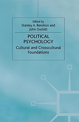 9780333751046: Political Psychology