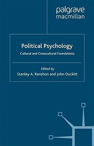 9780333751046: Political Psychology: Cultural and Crosscultural Foundations