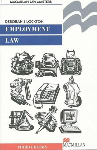9780333753583: Employment Law (International Marketing Series)