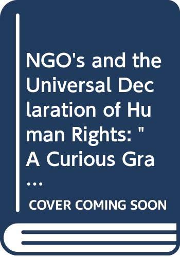 9780333754863: NGO's and the Universal Declaration of Human Rights: