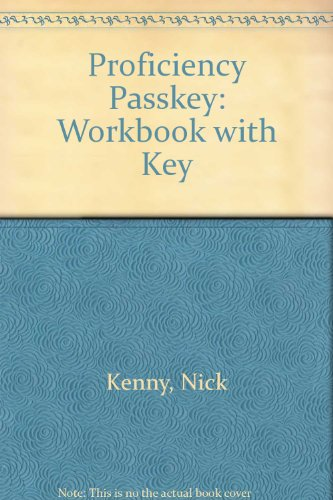 9780333755082: Proficiency Passkey: Workbook with Key