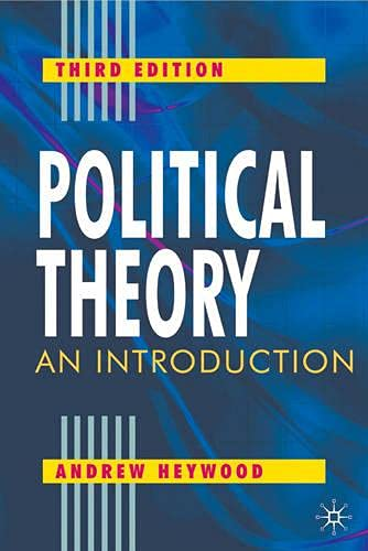 9780333760918: Political Theory: An Introduction