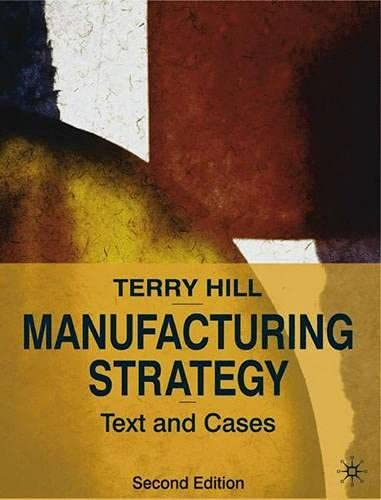 9780333762226: Manufacturing Strategy: Texts and Cases