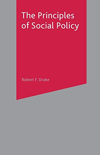 9780333763384: The Principles of Social Policy
