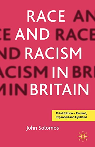 9780333764091: Race and Racism in Britain, Third Edition