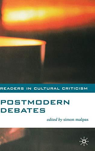 9780333765357: Postmodern Debates (Readers in Cultural Criticism)