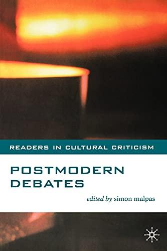 9780333765364: Postmodern Debates (Readers in Cultural Criticism)