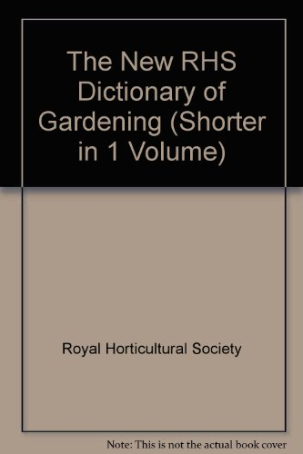 9780333770184: The New RHS Dictionary of Gardening