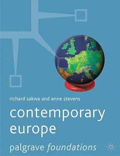 9780333772706: Contemporary Europe (Palgrave Foundations Series)