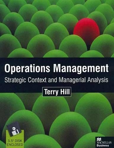 9780333775929: Operations Management: Strategic Context and Managerial Analysis