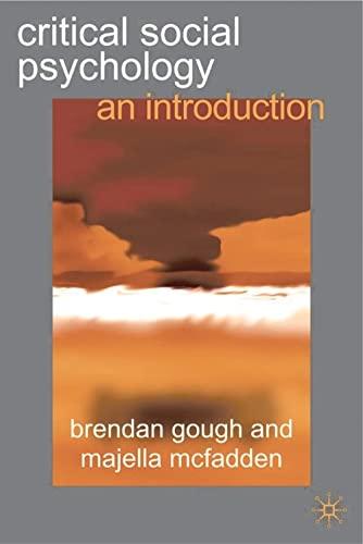 9780333776469: Critical Social Psychology: An Introduction