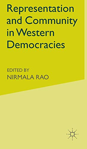 9780333776957: Representation and Community in Western Democracies