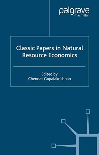 9780333777633: Classic Papers in Natural Resource Economics