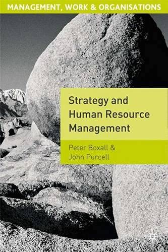 9780333778203: Strategy and Human Resource Management (Management, work & organizations)