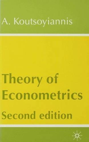 9780333778227: Theory of Econometrics