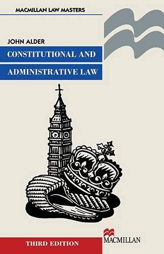 9780333792681: Constitutional and Administrative Law (Macmillan law masters)
