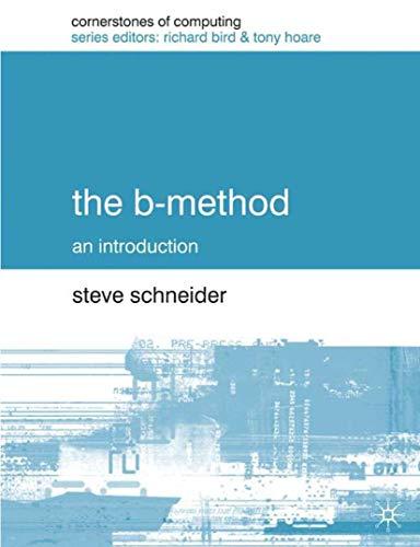 9780333792841: The B-Method (Cornerstones of Computing)