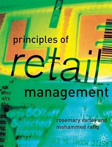 9780333792971: Principles of Retail Management