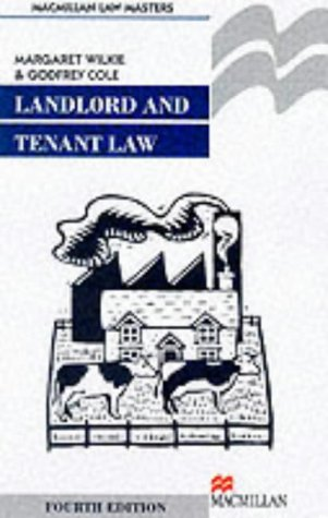 9780333794289: Landlord and Tenant Law (Palgrave Law Masters)