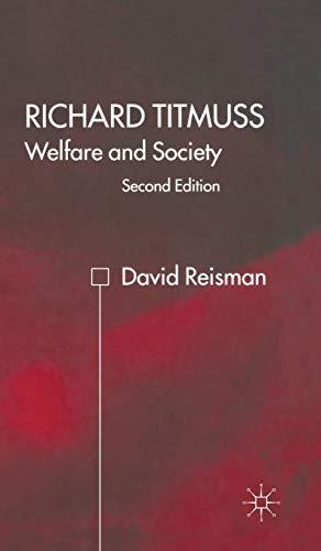 9780333800508: Richard Titmuss: Welfare and Society