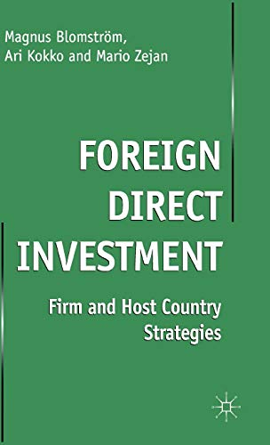9780333801208: Foreign Direct Investment: Firm and Host Country Strategies