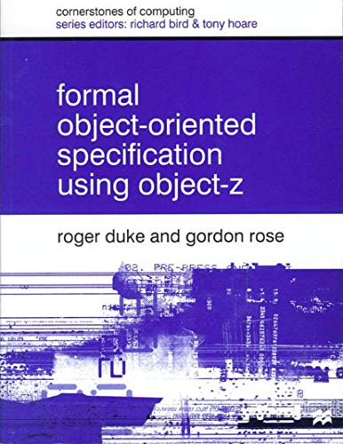 9780333801239: Formal Object Oriented Specification Using Object-Z (Cornerstones of Computing)