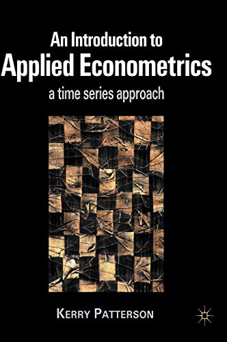 9780333802458: Introduction to Applied Econometrics: A Time Series Approach