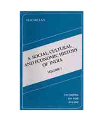 9780333900376: A Social, Cultural and Economic History of India, Vol. I