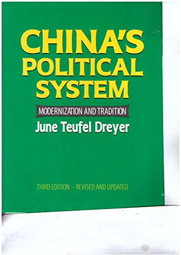 9780333912874: China's Political System: Modernization and Tradition