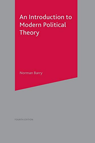 9780333912898: An Introduction to Modern Political Theory