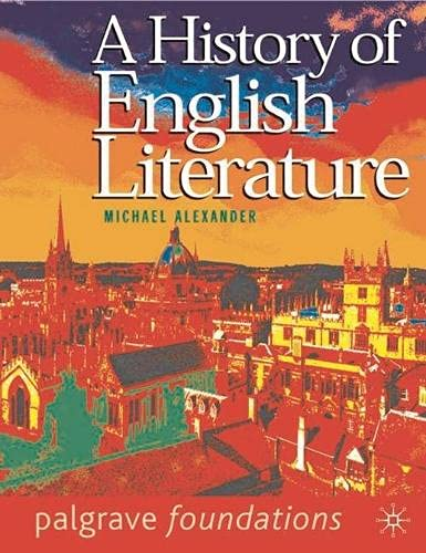 9780333913970: A History of English Literature