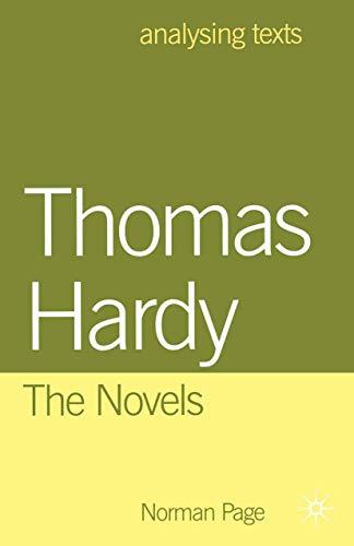 9780333914366: Thomas Hardy: The Novels (Analysing Texts)
