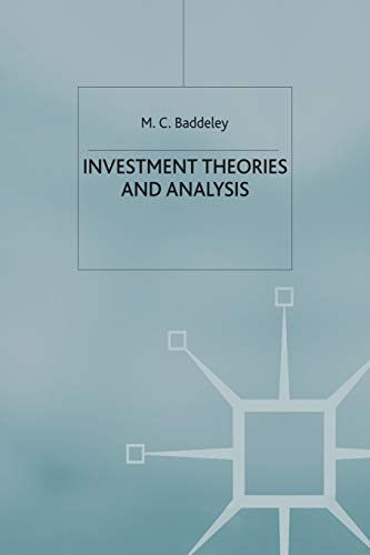 9780333915707: Investment: Theories and Analyses
