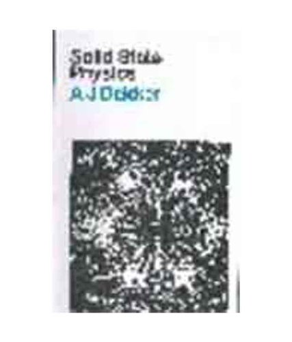 9780333918333: Solid State Physics
