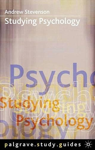 9780333919071: Studying Psychology (Palgrave Study Guides)