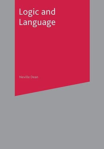 9780333919774: Logic and Language