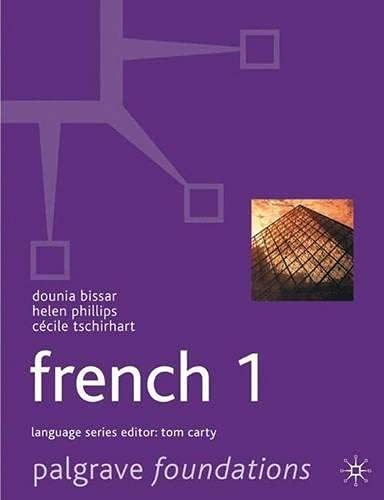 9780333919927: Foundations French: Level 1 (Palgrave Foundation Series Languages)
