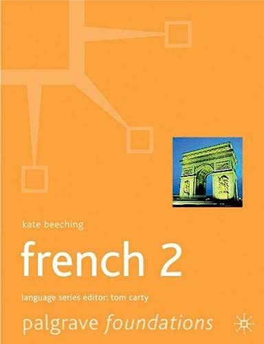 9780333922354: Foundations French: Level 2 (Palgrave Foundation Series Languages)