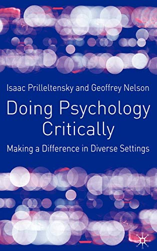 9780333922835: Doing Psychology Critically: Making a Difference in Diverse Settings