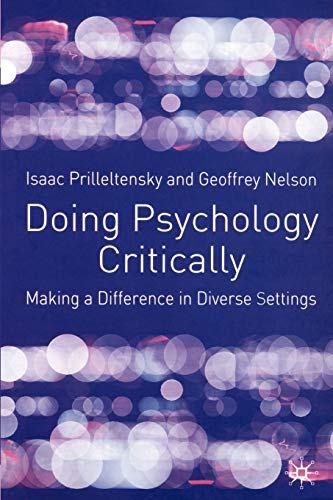 9780333922842: Doing Psychology Critically: Making a Difference in Diverse Settings