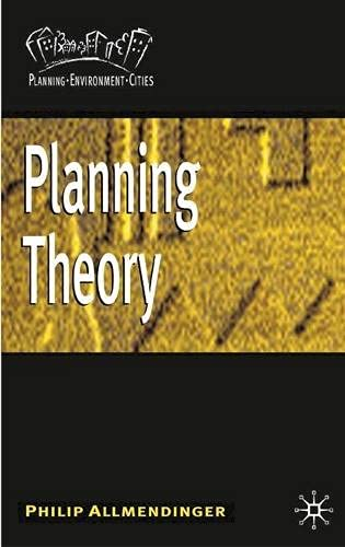 9780333925515: Planning Theory (Planning, Environment, Cities)