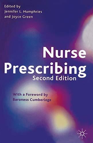 9780333930922: Nurse Prescribing